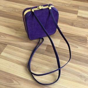 Vintage Purple Suede Box Purse